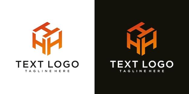 抽象的なモダンな頭文字hサイン高級ロゴデザインテンプレート