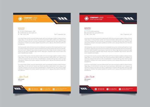 Abstract modern letterhead design and business letterhead design template