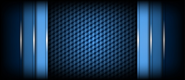 Abstract modern light and dark blue background overlap layers