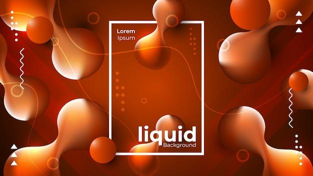 Abstract modern liquid background