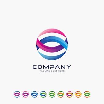 Abstract modern logo design