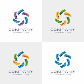 抽象的なモダンロゴデザイン