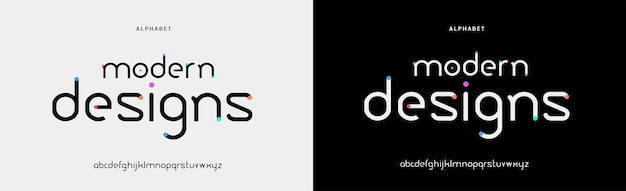 추상적이고 현대적인 최소한의 알파벳 글꼴입니다. 재미, 스포츠, 기술, 패션, 디지털, 미래 창조적 인 로고 글꼴을위한 타이포그래피 도시 스타일