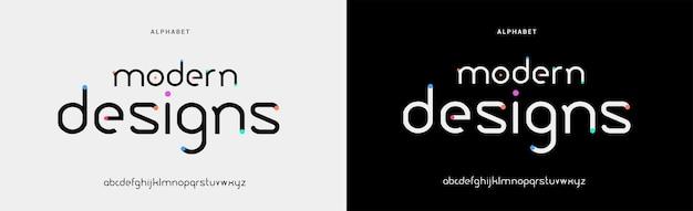 Abstract modern minimal alphabet fonts. typography urban style for fun, sport, technology, fashion, digital, future creative logo font