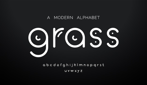 抽象的なモダンな最小限のアルファベットフォント。