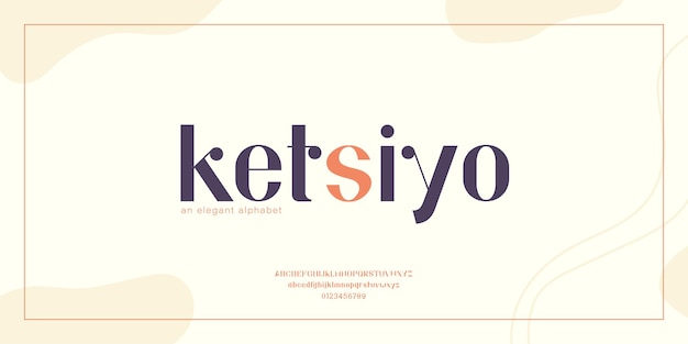 Abstract modern and minimal font. elegant typography with urban style for technology, logo, fashion, and sports