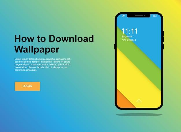 Abstract, modern mobile phone screen banner design