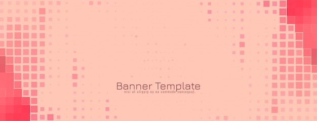 Abstract modern mosaic banner design vector
