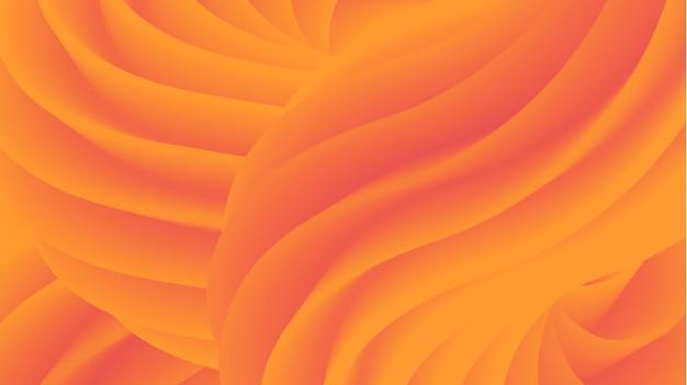 Abstract modern orange 3d fluid shape background
