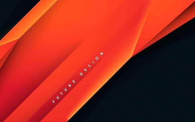 Abstract modern orange dimension background