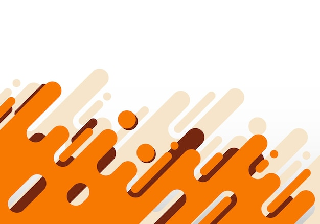 Abstract modern orange rounded diagonal lines geometric on white background. vector illustration