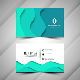 Abstract modern paper cut business card template