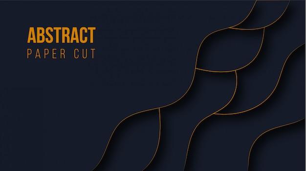 Abstract modern paper cut