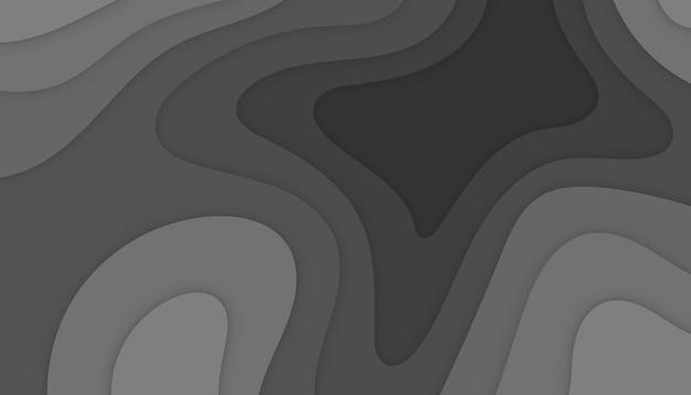 抽象的なモダンなペーパーカットの背景