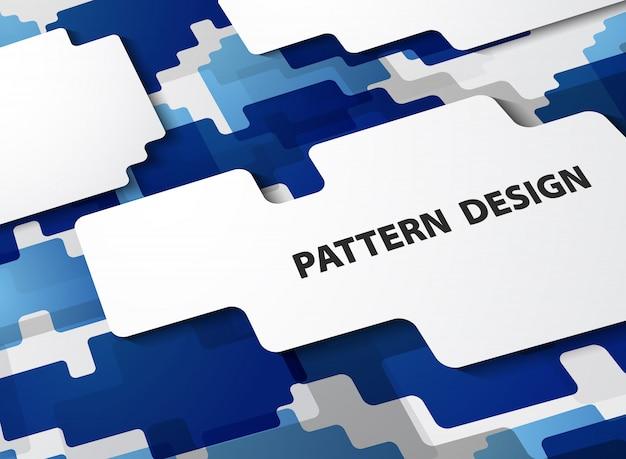 그라데이션 파란색 배경의 추상 현대 패턴입니다.