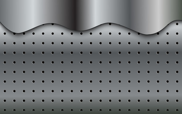 Abstract modern pattern of silver background