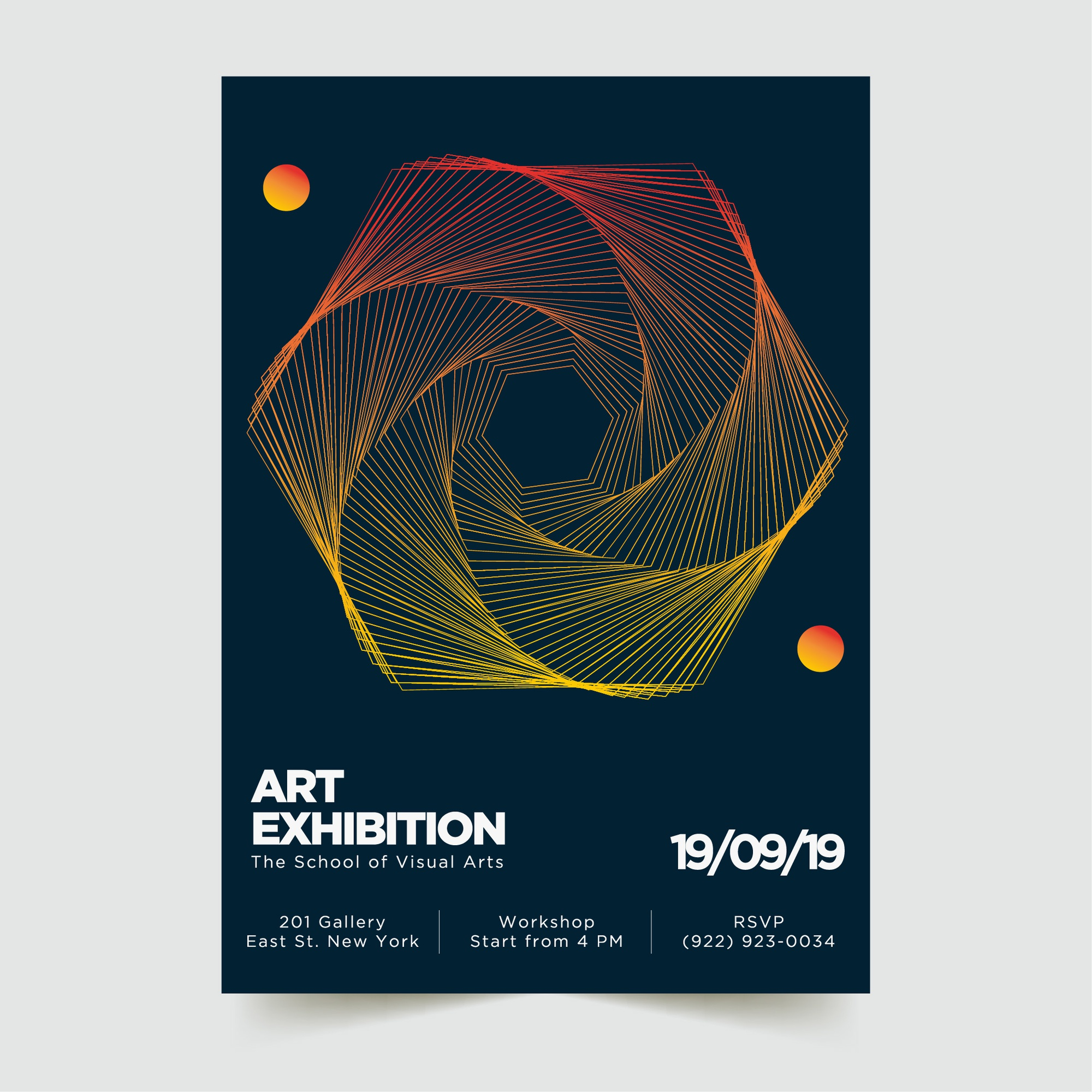 Abstract Modern Poster Template 4