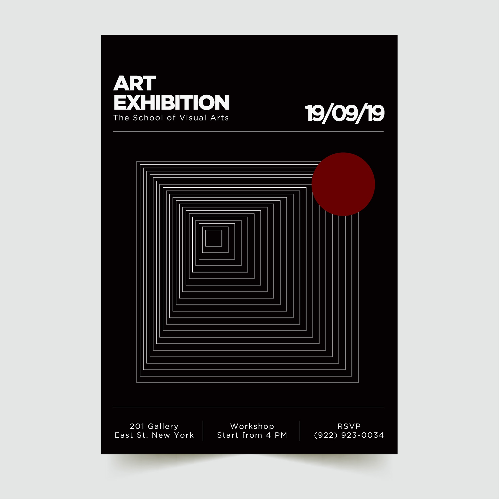 Abstract Modern Poster Template 9