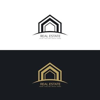 Moderno immobiliare business logo design concept