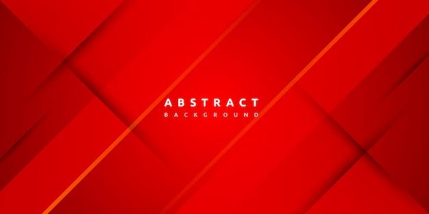 Абстрактный современный красный фон с ломтиком бумаги Premium векторы