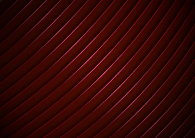 抽象的な現代的な赤の湾曲したストライプの背景テクスチャ