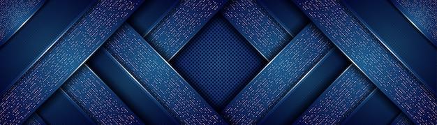 오버랩 레이어 배경으로 추상 현대 로얄 다크 블루 프리미엄 벡터