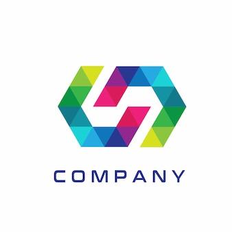 Аннотация Современный дизайн логотипа S
