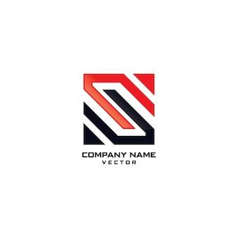 抽象的なモダンSシンボル会社ロゴデザイン