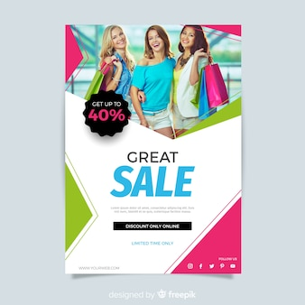 Abstract modern sale flyer template
