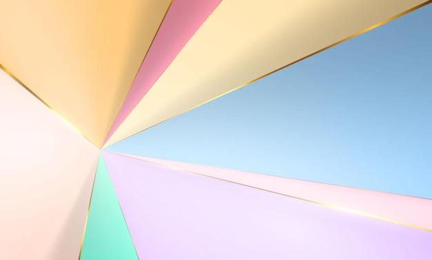 抽象的な現代的な形。カラークリエイティブミニマリスト。はがきやパンフレットの表紙デザイン。