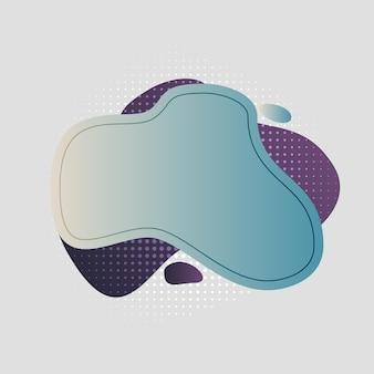 Абстрактные, современные, формы, жидкости, всплеск, многоцветный, голубой, темно-фиолетовый, фиолетовый, светло-коричневый градиент обои фон векторные иллюстрации