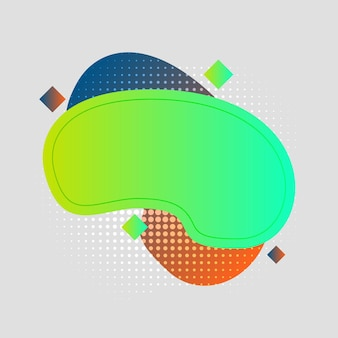 Абстрактные, современные, формы, жидкости, всплеск, многоцветный, зеленый лайм, темно-синий, оранжевый, бирюзовый градиент обои фон векторные иллюстрации