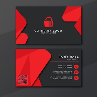 Abstract modern store manager sales business card