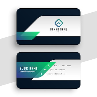 Abstract modern stylish business card template