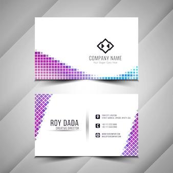 Абстрактный современный стильный шаблон визитной карточки