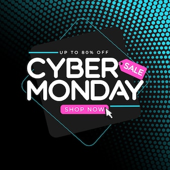 Abstract modern tech cyber monday sale special offer background. vector illustration eps10
