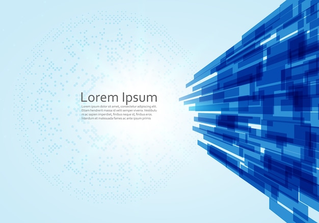 Abstract modern technology lines vector background