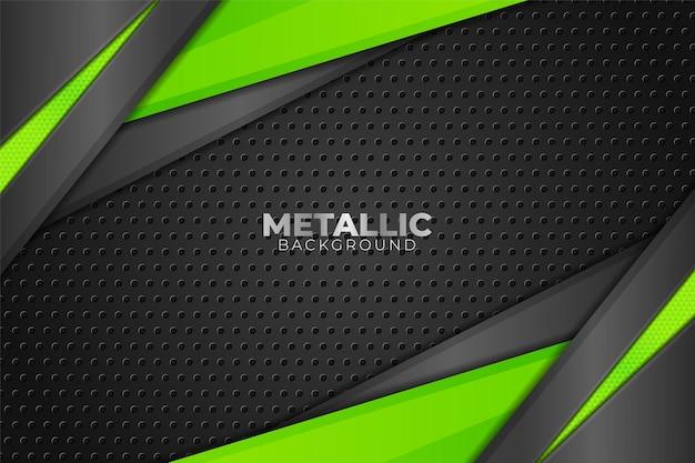 抽象的な現代技術メタリック光沢のある緑の暗い背景