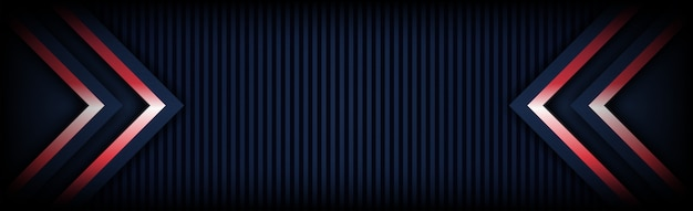 Abstract of modern technology red light arrow with dark blue background