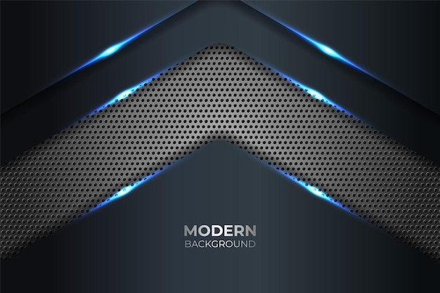 Abstract modern technology shiny blue with grey metallic background