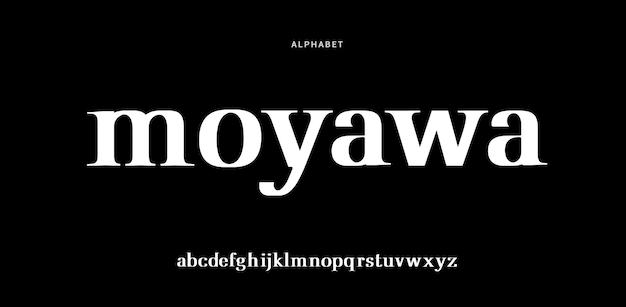Abstract modern urban alphabet font