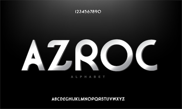 추상 현대 도시 알파벳 글꼴
