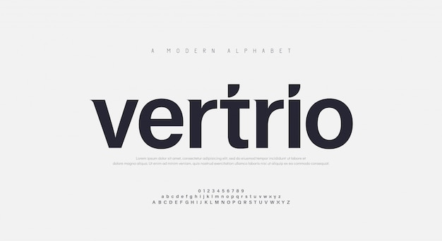 Abstract modern urban alphabet font