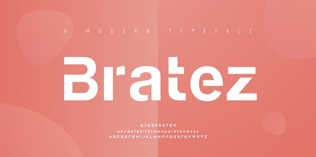 Abstract modern urban alphabet fonts. typography sport, simple, technology, fashion, digital, future creative logo font.   illustration