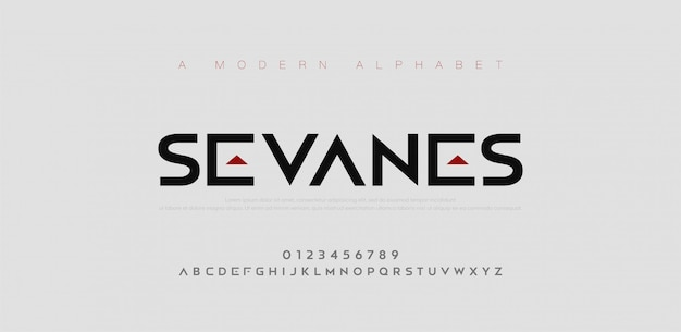 Абстрактные современные городские алфавит шрифты. типография спорт, простой, технологии, мода, цифровой, будущий креативный логотип шрифта.