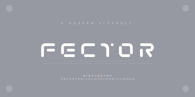Abstract modern urban alphabet fonts. typography sport, technology