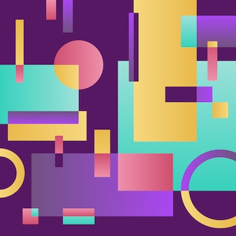 Abstract modern violet ground with geometric objects