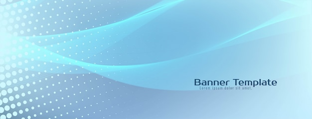Abstract modern wave banner template