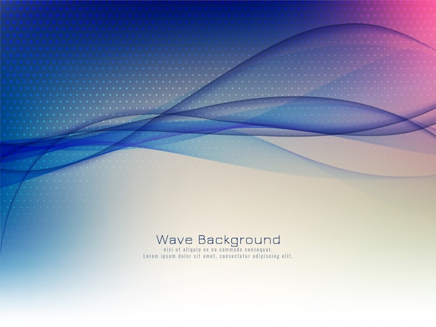 Abstract modern wave colorful