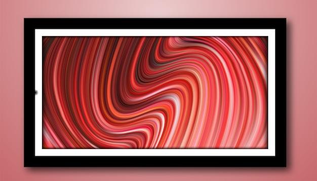 Абстрактное современное волнистое художественное творчество с жидкими линиями